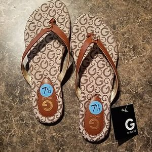 Women's Guess flip flops.